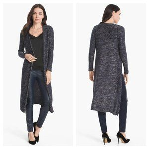 White House Black Market Sequin Duster Sweater